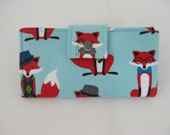 Ladies Wallet, Fox Wallet, Womens Wallet, Fox Gift, Wallets For Woman, Credit Card Wallet, Gift Under 50, Women's  Handmade Ladies  Wallet