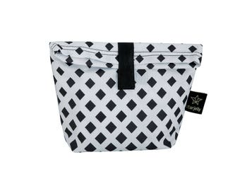 Rhombus Toddler Lunch bag, New collection  Kids Lunch bag, childrens Lunch bag ,Monochromatic bag