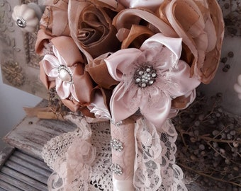 Vintage flower wedding bouquet