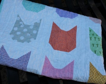 Kitty Cat Baby Quilt