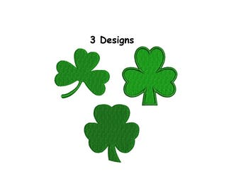 Shamrock embroidery design - St. Patrick's day clover embroidery design - INSTANT DOWNLOAD