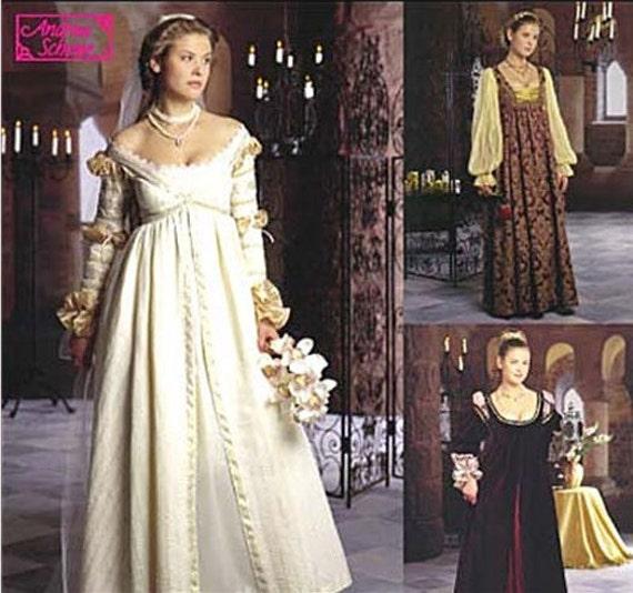 Einfachheit der je nach Kleid Muster Renaissance Hochzeit
