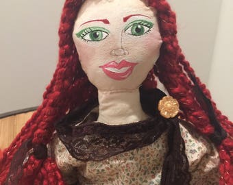 OOAK Art Cloth Doll - Doll- # 2