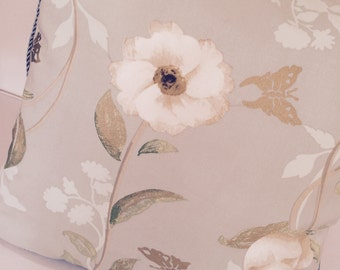 Nina Campbell print - duck egg blue print cushion/pillow cover