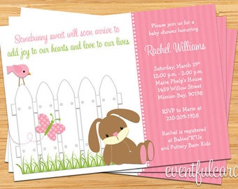 Bunny Baby Shower Invitation - Printable