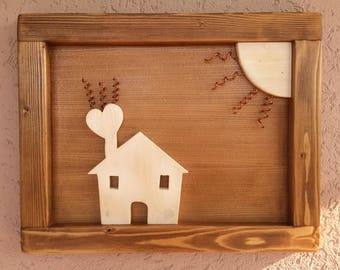 Handmade Wood Wall Art Picture