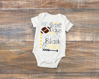 Pittsburgh Baby Bodysuit or Toddler Shirt - Steelers, Penguins or Pirates Version Available