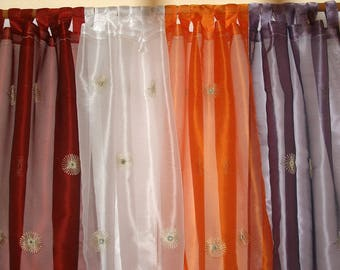 """Curtain Panels Sheer Panel Drapes with Mirrors 42""""x 84"""""""