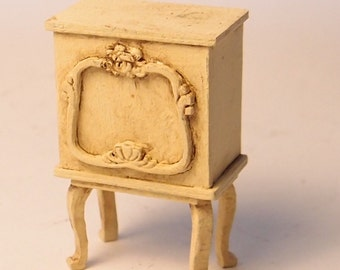 1:24 scale miniature dollhouse furniture kit French bedside