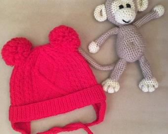 White Baby hat, baby boy hat, baby girl hat, kids hat, winter hat, wool hat