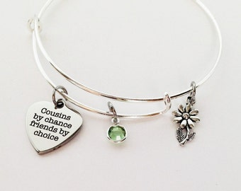 Cousin Gifts, Gifts for Cousin, Cousin Bracelet, Cousin Jewelry, Big Cousin, Cousin Gift Ideas, Birthday Gifts for  Cousin, Cousin Birthday