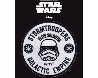 Official Disney Star Wars Rogue One Stormtrooper Elite Soldier Iron On Embroidered Lucas-film Patch
