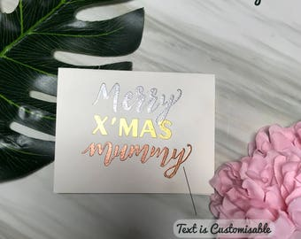 Simple Embossing Christmas Greeting Card