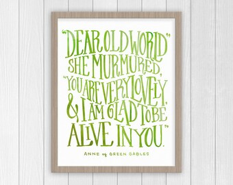 Anne of Green Gables Quote   Anne Shirley Motivational Quote Print   Classic Literature Book Poster
