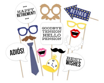 Printable retirement photo booth props retirement party printable retirement photo booth props retirement party photobooth props retirement party decorations retirement photo props solutioingenieria Images