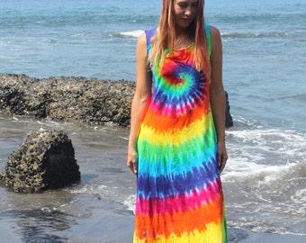 Tie Dye Maxi Dress Sizes Small through 3XL