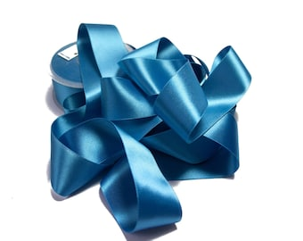 Double Faced Turquoise Satin Ribbon 3.8 cm x 1 meter