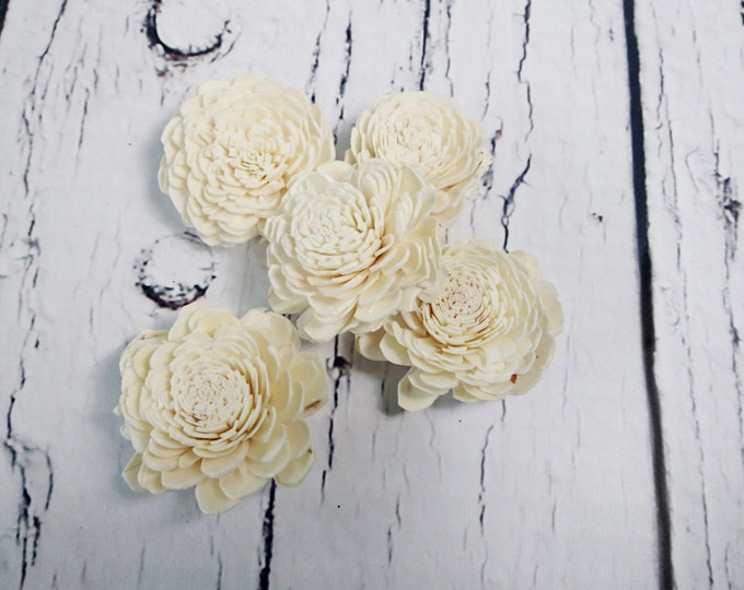 Sola Flowers Wedding decor white ivory diy bouquet floral supply natural table decor favor rustic belly 25 pcs 6cm 2 23⁄64""