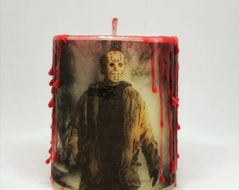 Jason Voorhees blood drip candle