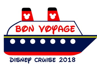 Disney Cruise instant download digital cut file for electronic cutting machines - SVG DXF EPS ps Studio3 Studio