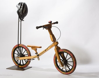 """Bamboo-bini™ - The Bamboo Bicycle that """"grows"""" and works as a balance bike in both the low and high position for ages 3 to 7!"""