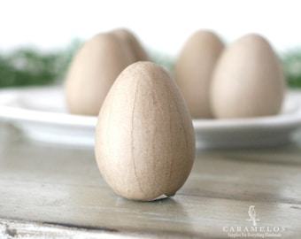 "4"" Kraft Paper Mache Eggs unfinished hollow egg"