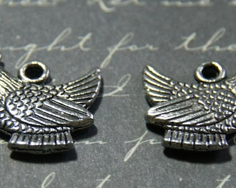 2 charms hollow silver-plated 17, 5 x 19, 5mm