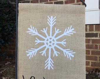 Burlap flag, Welcome, wedding gift, bridal shower gift, house warming gift