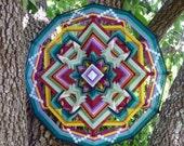 Butterfly World, an 36 inch, 12-sided, Ojo de Dios, by custom order