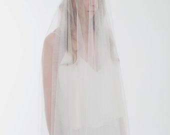 ROCHELLE // Bridal Veil, Waltz Length Veil, Silk Tulle.