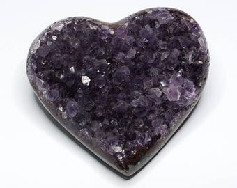 Beautiful Uruguay amethyst-heart, dark violet crystals, no. 4, 260 grams