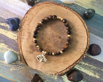 Lotus Charm Bracelet