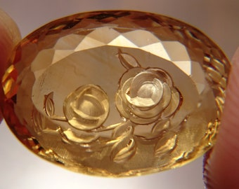 New: Beautifully Faceted Cameo Citrine