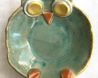 Pottery Owl Candle Votive