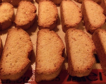 A Pound and A Half of Homemade Buttery Anisette Biscotti with Almonds