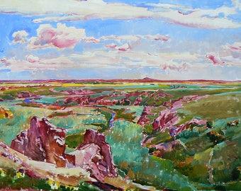 Ukrainian Impressionist landscape, Impressionist painting, modern painting, oil painting, original painting, best selling art, sky picture