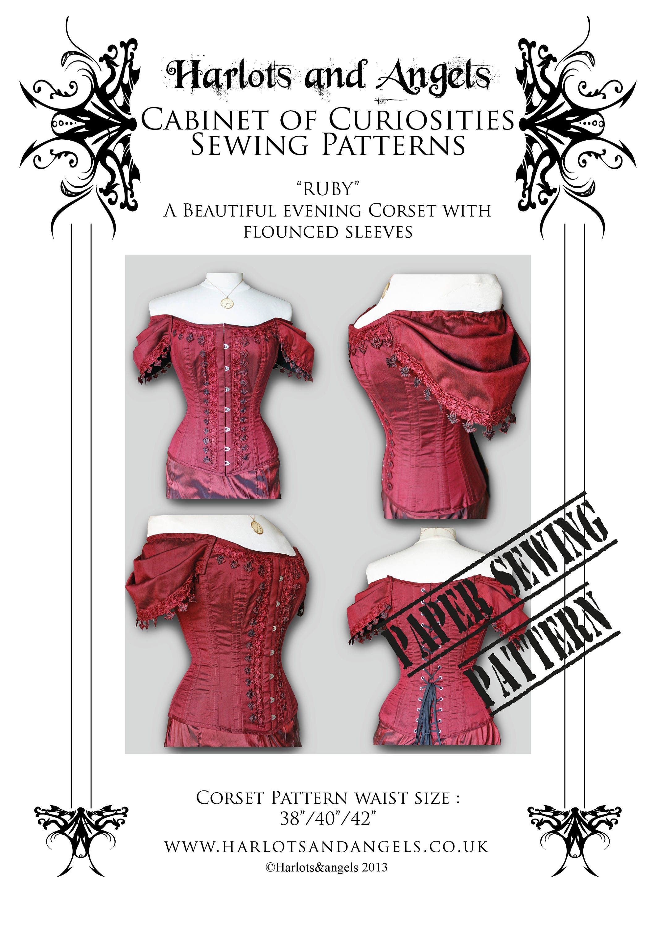 Corset Sewing Pattern sleeved corset Steampunk Gothic High