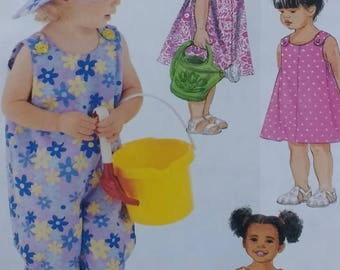 Easy Toddler Romper Hat Panties Sewing Pattern Mccalls 3598 Childrens Romper with Hat and Panties Pattern Toddler Size 1 2 3 4