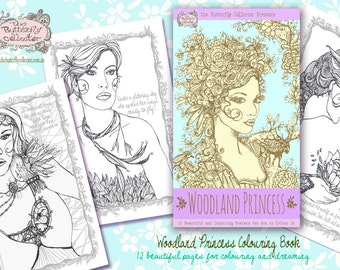 Woodland Princess Printable Coloring Book