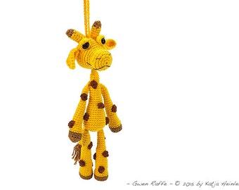 Giraffe Häkelanleitung safarie afrika zoo by Katja Heinlein häkeln Häkelfigur Schlüsselanhänger Taschenbaumler Baumler Anhänger amigurumi