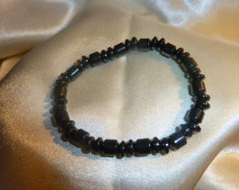 Genuine HEMATITE GEMSTONES bracelet
