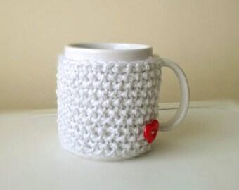 Mug Cozy, Coffee Mug Sweater, Coffee Cozy Sleeve, Coffee Mug Cozy, Hand Knit Cozy, Knitted Cup Cozy, Tea Cozy, Travel, Gift Idea for Mom