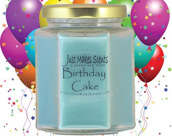Birthday Cake Scented Candle - Homemade Blended Soy Candle - Free Shipping on Orders of  6 or More - Fragrant Baked Goods Candle