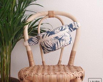 Fanny pack, waist bag, ferns, blue and beige, belt bag, bum bag, fern, Blue & Ivory