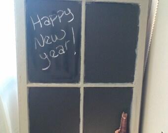 ON SALE - Window Panes, Reworked Window Pane, Chalkboard, Window Pane Chalkboard, Wall Decor, Bulletin Board, Message Board