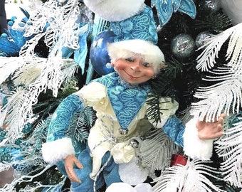 """Floridus 24"""" """"FROZT"""" Elf (White & Blue) FLO-XN708900"""