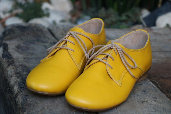 HandMade Leather Shoes Large Women Also Oxford Shoes Size 6BFSgc0AW