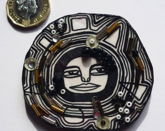 A little crazy jewelry - brooch