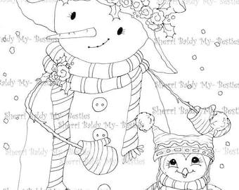 INSTANT DOWNLOAD Digital Digi Stamps Big Eye Big Head Dolls NEW Besties img489 My Besties By Sherri Baldy