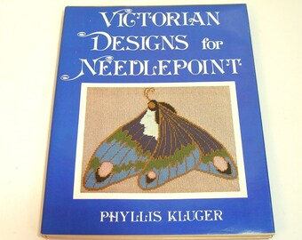 Victorian Designs for Needlepoint by Phyllis Kluger, Vintage Book